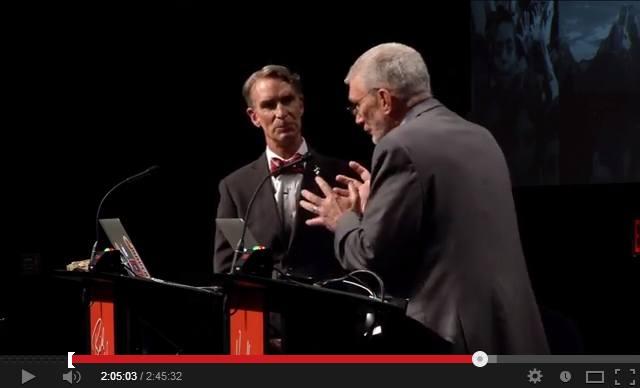 Ο Bill Nye και ο Ken Ham συζητούν για την εξέλιξη και τον ευφυή σχεδιασμό ως θεωρίες για την προέλευση του κόσμου