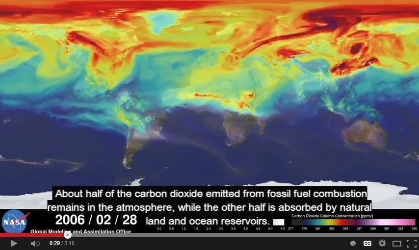 Πώς ταξιδεύει το διοξείδιο του άνθρακα στην ατμόσφαιρα του πλανήτη;