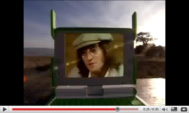 Ο John Lennon ξαναζωντανεύει για να προωθήσει το πρόγραμμα One Laptop per Child